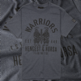 Warriors -  Hengest and Horsa Anglo-Saxon t-shirt - navy